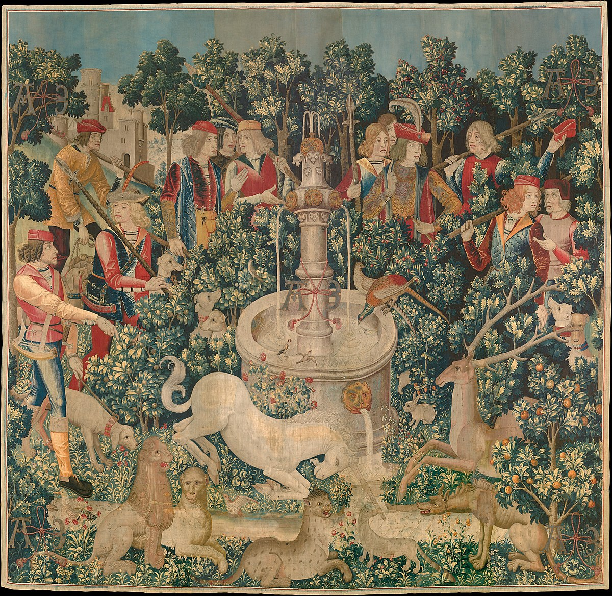 Tapestry – Wikipedia Pertaining To Most Popular Blended Fabric Irises Tapestries (View 7 of 20)