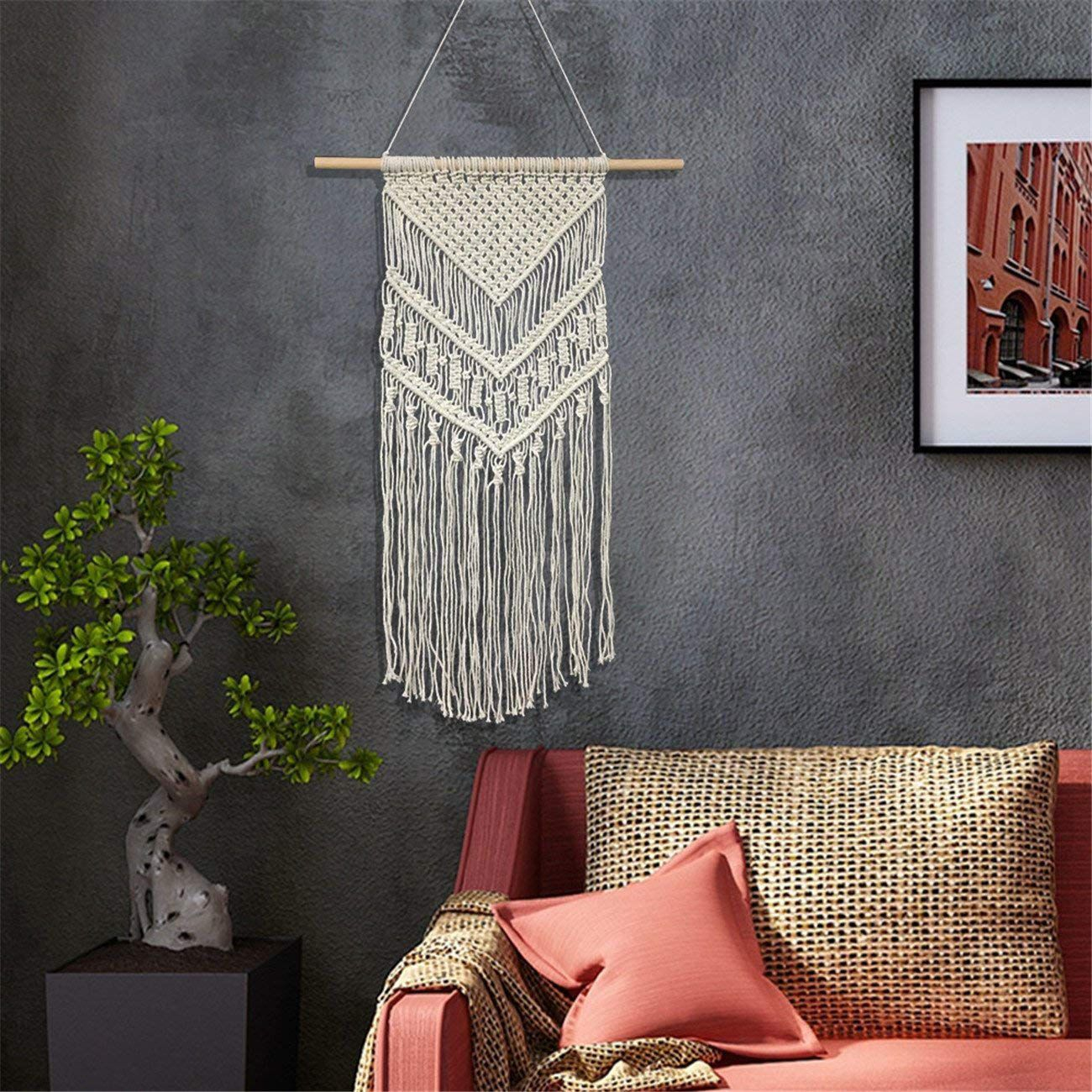 The 7 Best Macrame Wall Hangings With Most Current Blended Fabric Wall Hangings With Hanging Accessories Included (View 16 of 20)