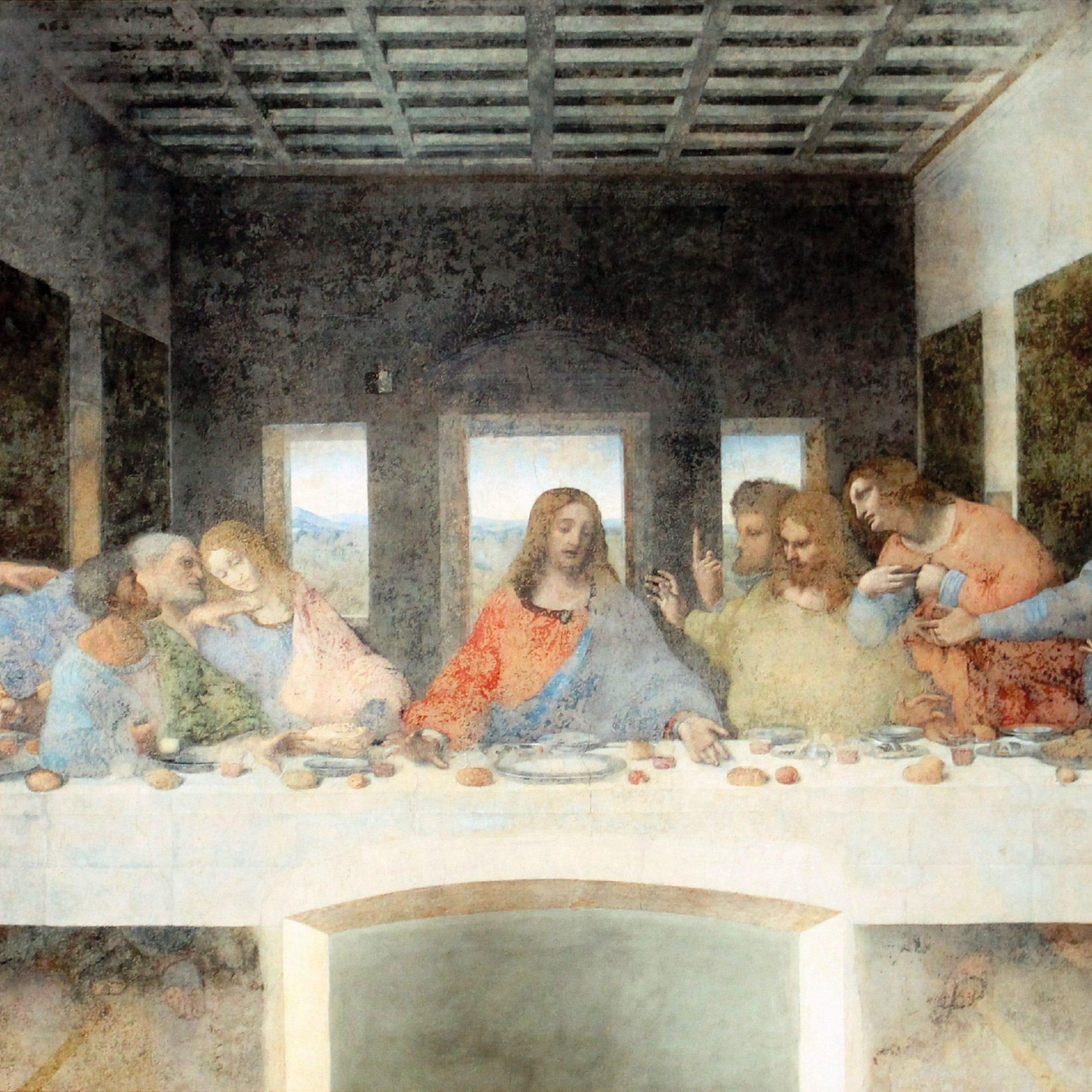 The Last Supper Paintingleonardo Da Vinci #painting Last With Most Popular Blended Fabric Leonardo Davinci The Last Supper Wall Hangings (View 2 of 20)