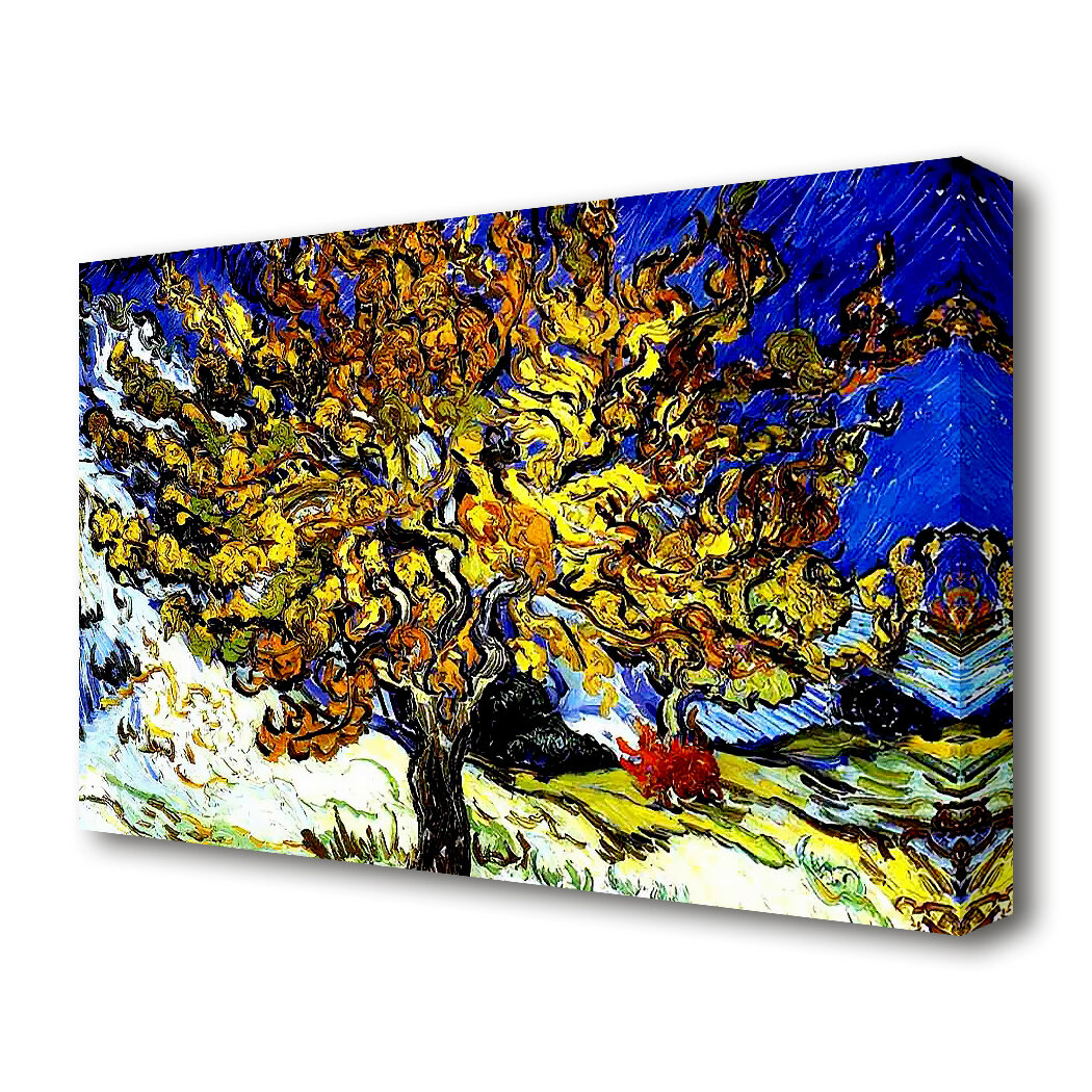 'the Mulberry Tree'vincent Van Gogh Oil Painting Print On Wrapped Canvas Intended For Most Recently Released Blended Fabric The Mulberry Tree – Van Gogh Wall Hangings (View 6 of 20)