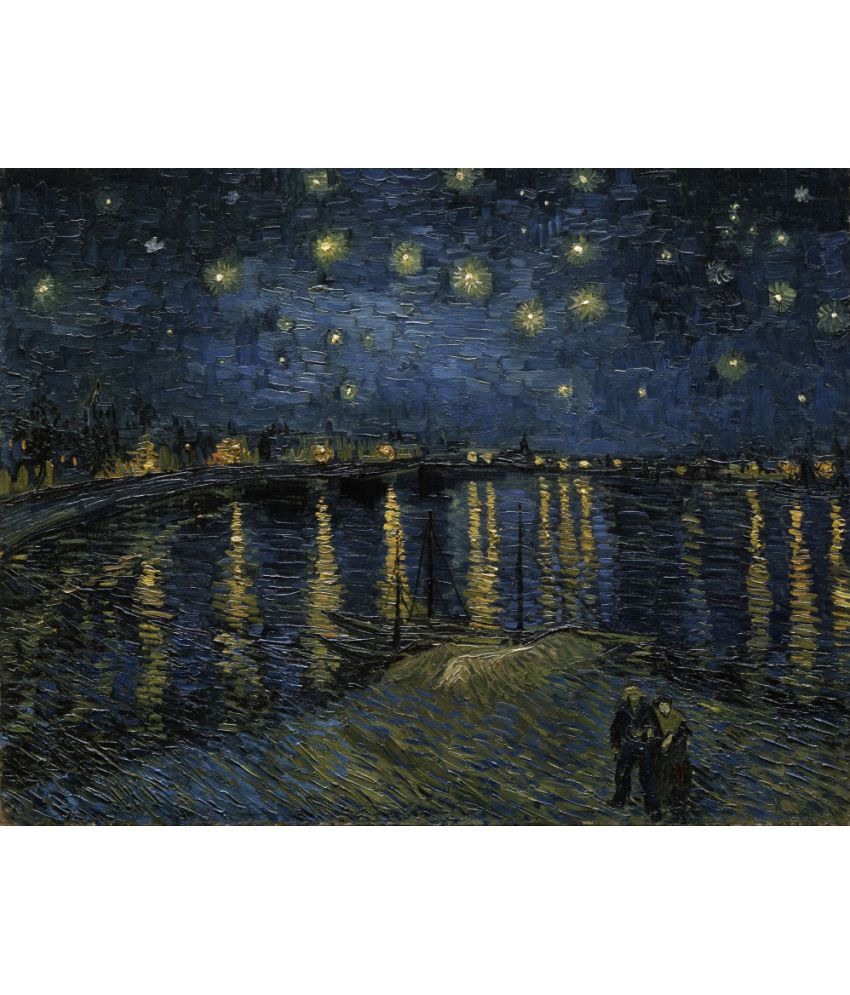The Museum Outlet – Van Gogh – Starry Night Over The Rhone With Regard To 2017 Blended Fabric Van Gogh Starry Night Over The Rhone Wall Hangings (View 5 of 20)