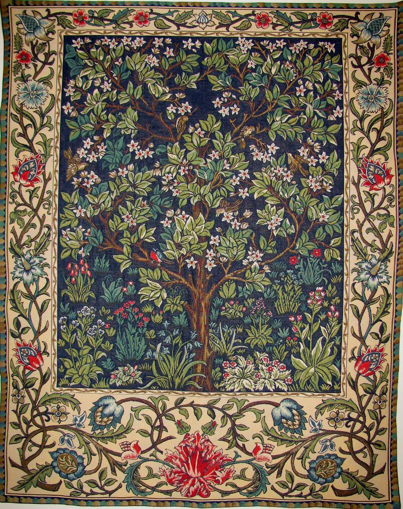 The Tree Of Life Tapestry Wallhanging – William Morris Wall Regarding 2017 Blended Fabric Woodpecker European Tapestries (View 13 of 20)