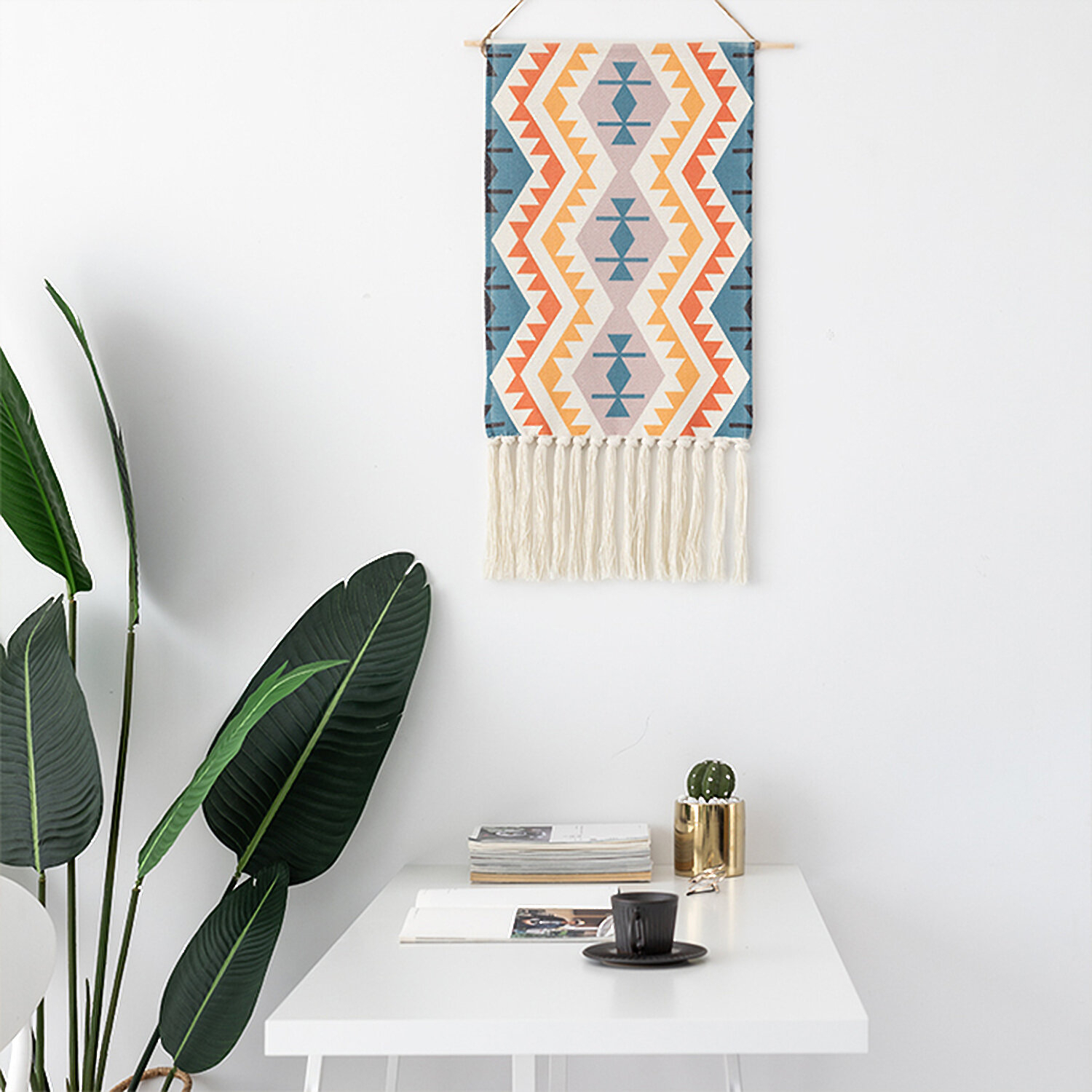 Traditional Boho Woven Tapestry Wall Hanging Within Current Blended Fabric Southwestern Bohemian Wall Hangings (View 8 of 20)