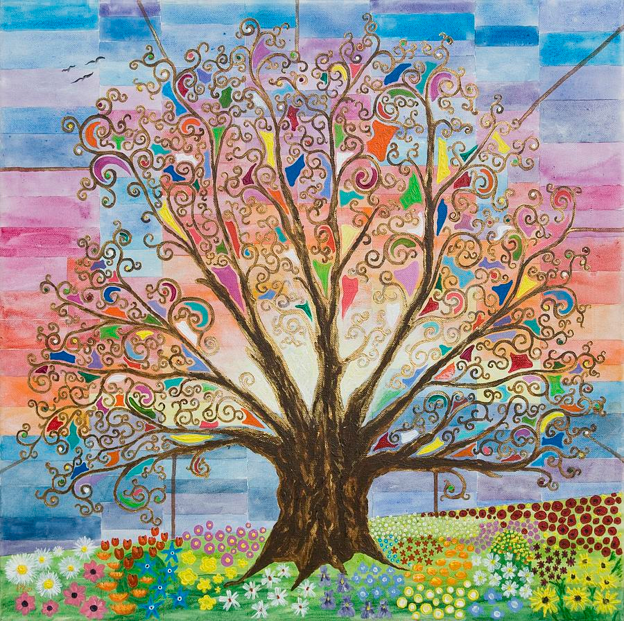 Tree Of Life #1 Paintingmark Betson | Tree Of Life Throughout 2017 Blended Fabric Pastel Tree Of Life Wall Hangings (View 2 of 20)