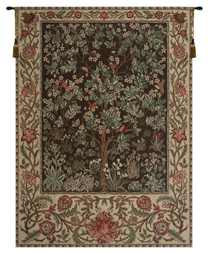 Tree Of Life – Brown Tapestry Wall Art Hanging, A – H 69 X W 51 With Most Current Blended Fabric Pastel Tree Of Life Wall Hangings (View 10 of 20)