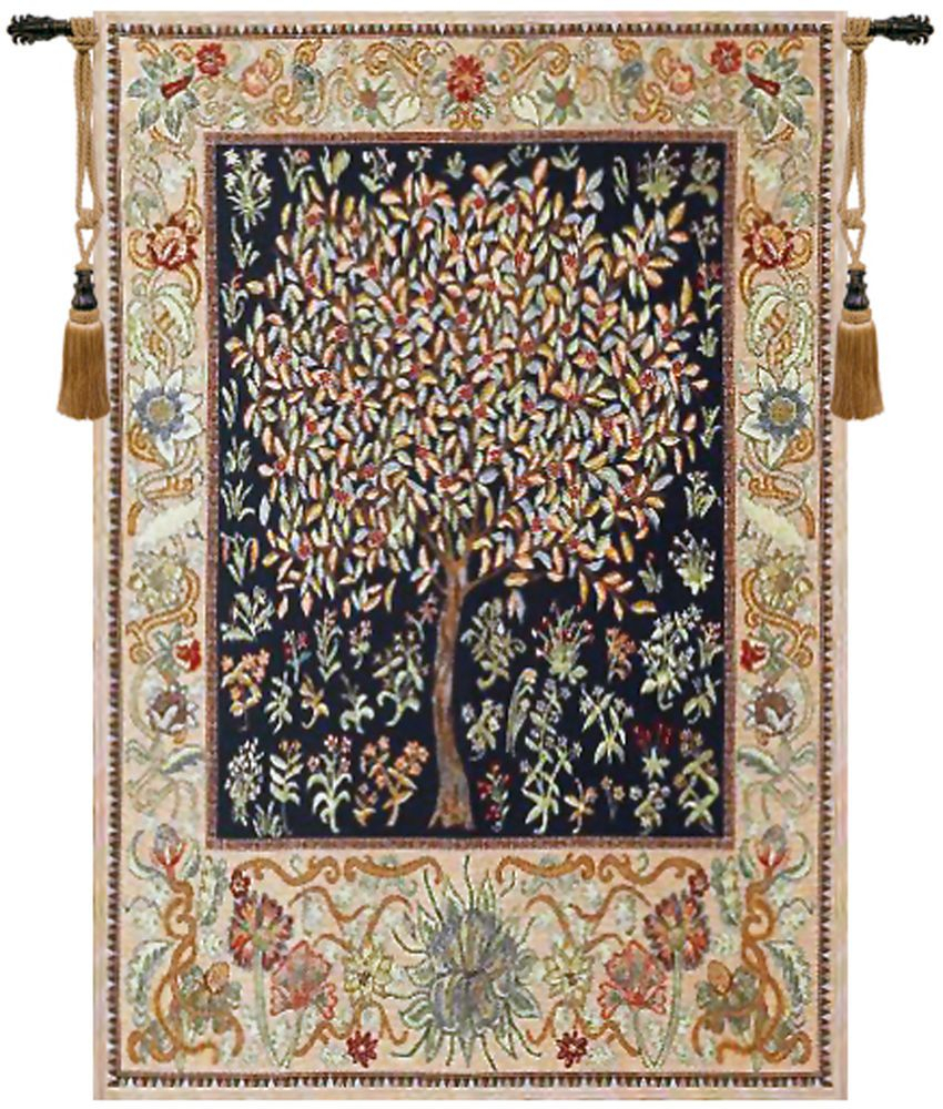 Tree Of Life – Pastel William Morris Design Belgian Woven Regarding Most Recently Released Blended Fabric Pastel Tree Of Life Wall Hangings (View 3 of 20)