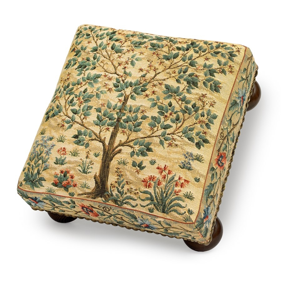 Tree Of Life Tapestry Footstool Regarding Most Current Blended Fabric Living Life Tapestries (View 11 of 20)