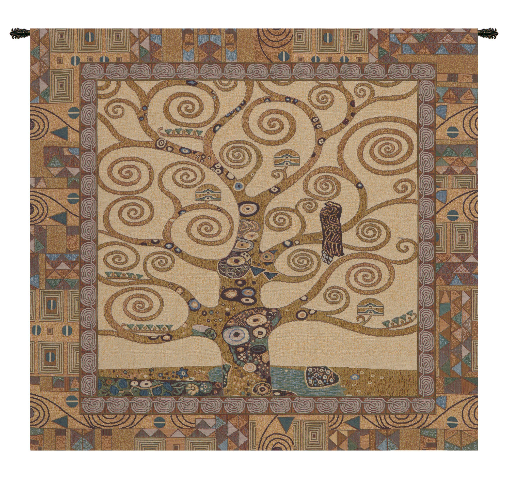 Tree Of Life Wall Hanging Pertaining To Newest Blended Fabric Klimt Tree Of Life Wall Hangings (View 6 of 20)