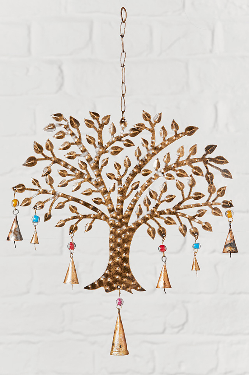 Tree Of Life Windchime With Coloured Beads Within Most Up To Date Blended Fabric Pastel Tree Of Life Wall Hangings (View 4 of 20)