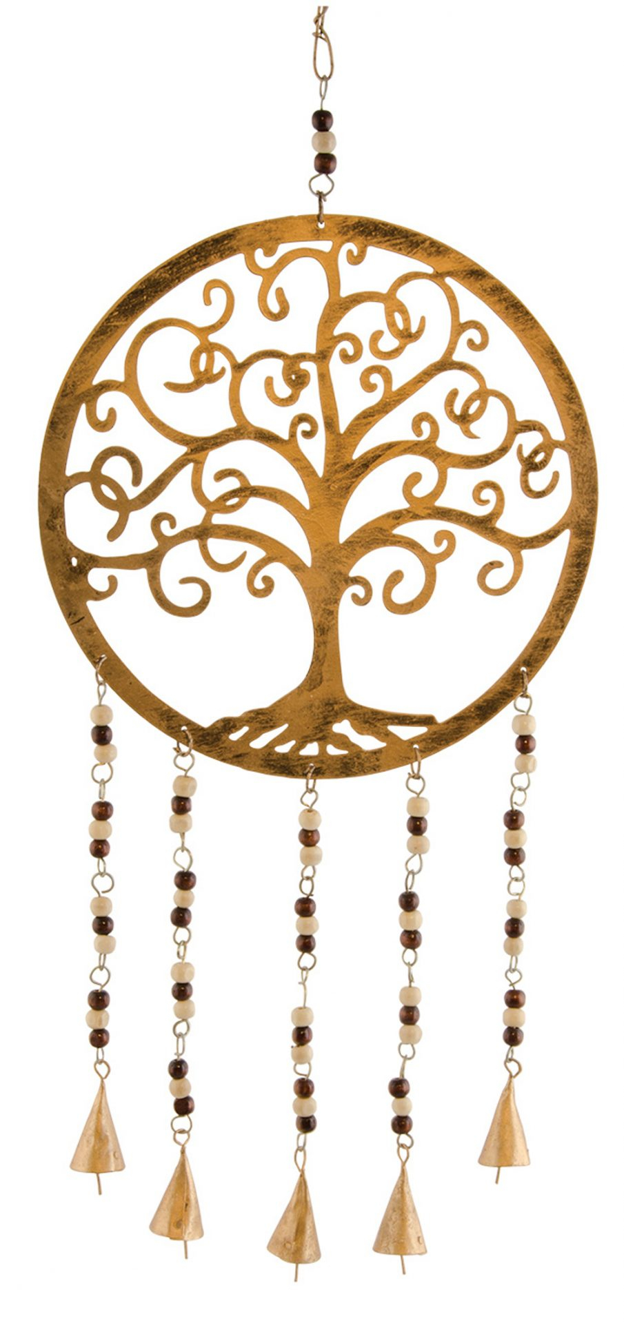 Tree Of Life Windchime With Wooden Beads And Bells Within Most Popular Blended Fabric Pastel Tree Of Life Wall Hangings (View 15 of 20)