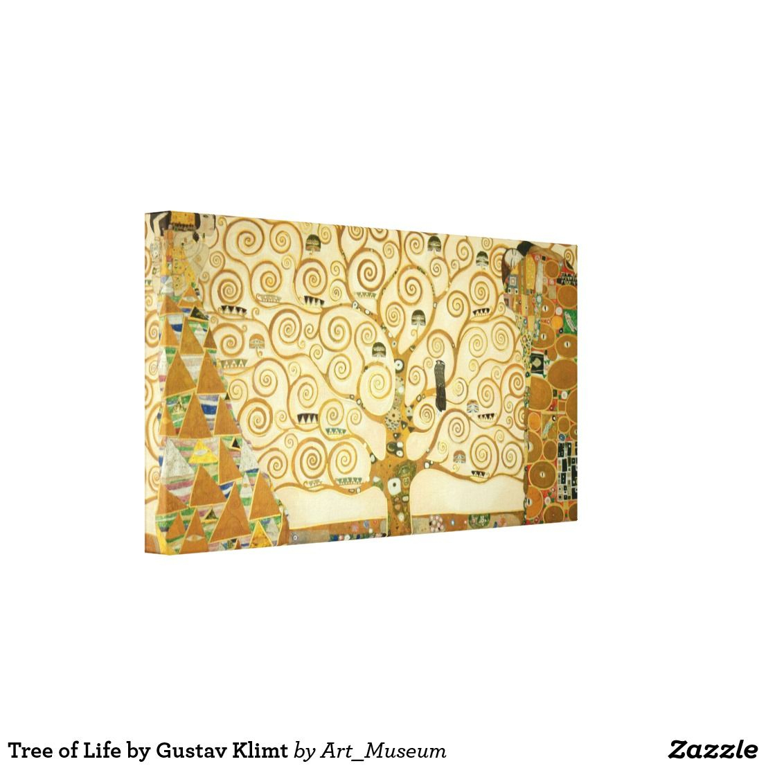 Tree Of Lifegustav Klimt Canvas Print | Zazzle Intended For Newest Blended Fabric Klimt Tree Of Life Wall Hangings (View 10 of 20)