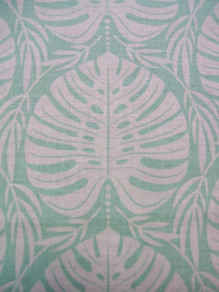 Tropical Paradise Philodendron Leaf Leaves Leafy Mint Blend Within Best And Newest Blended Fabric Artifice Ii Wall Hangings (View 5 of 20)