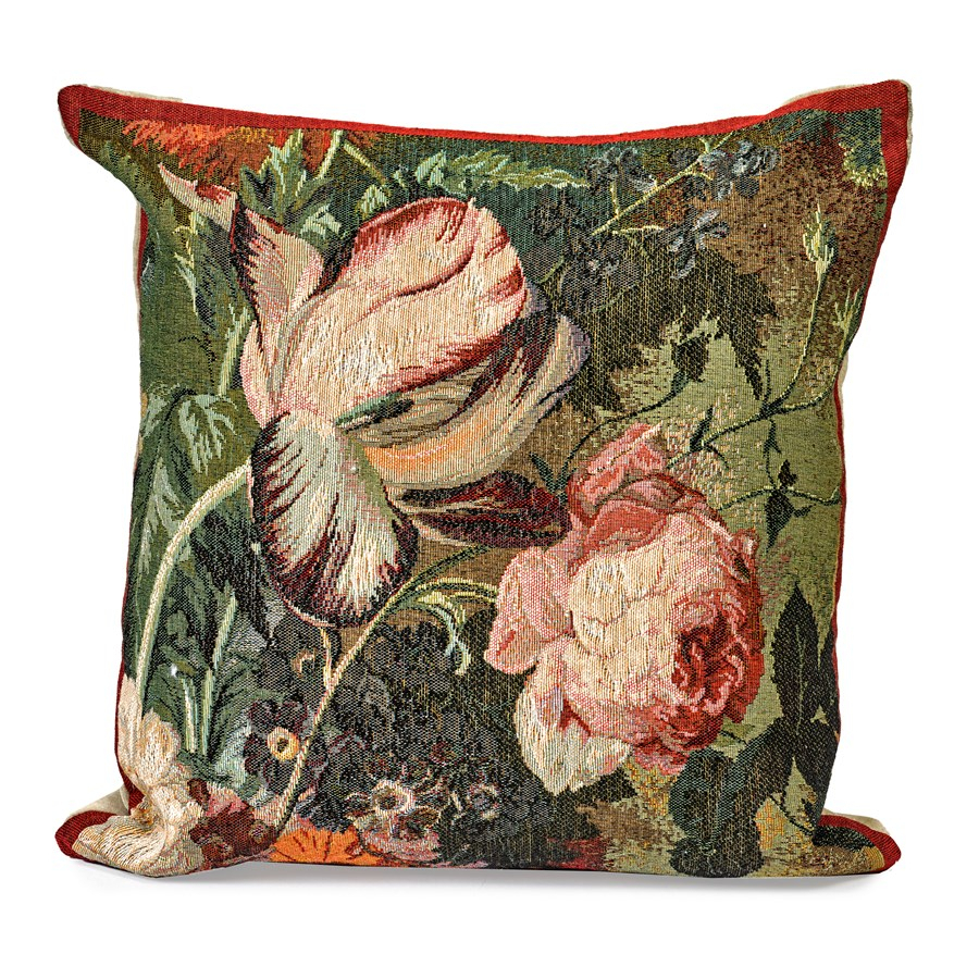 Tulip Tapestry Pillow Intended For 2017 Blended Fabric Irises Tapestries (View 3 of 20)