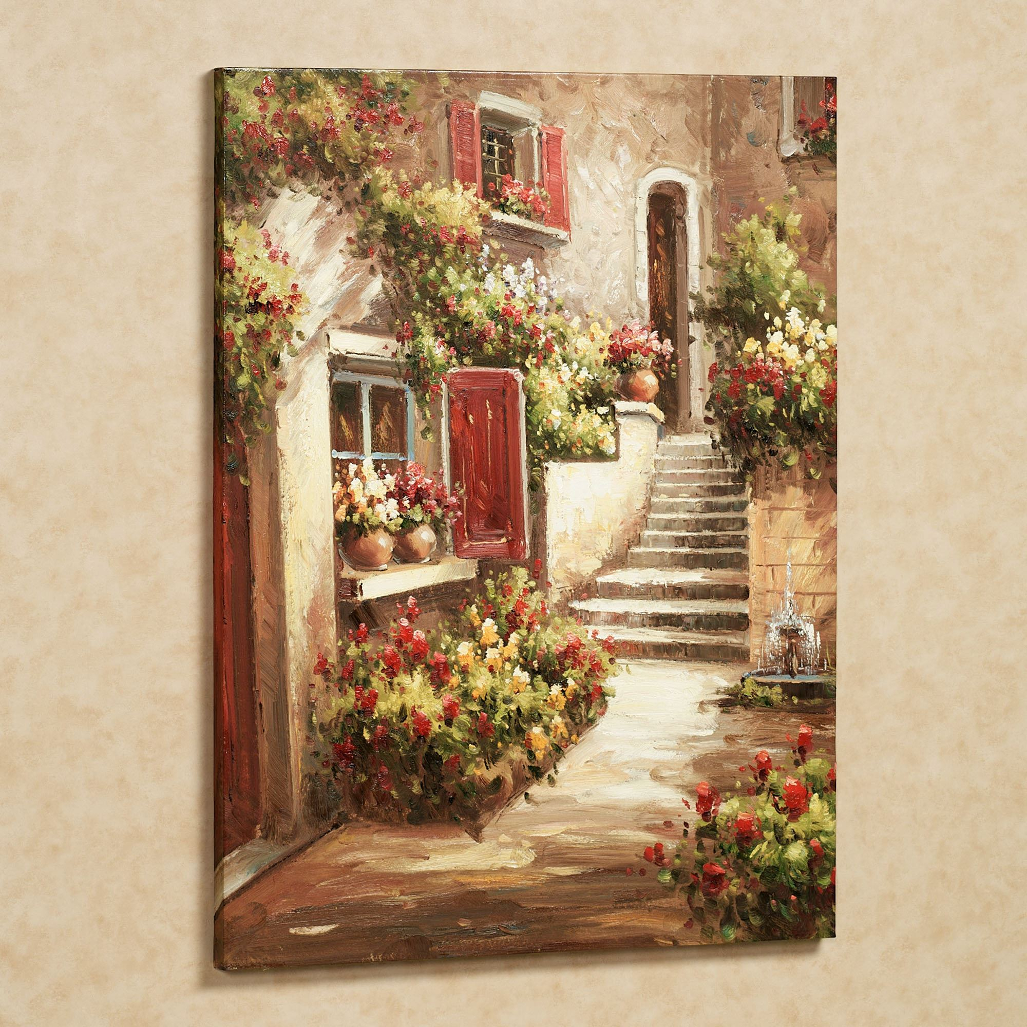 Tuscan Flowers Canvas Wall Art Throughout Current Blended Fabric Italian Wall Hangings (View 4 of 20)