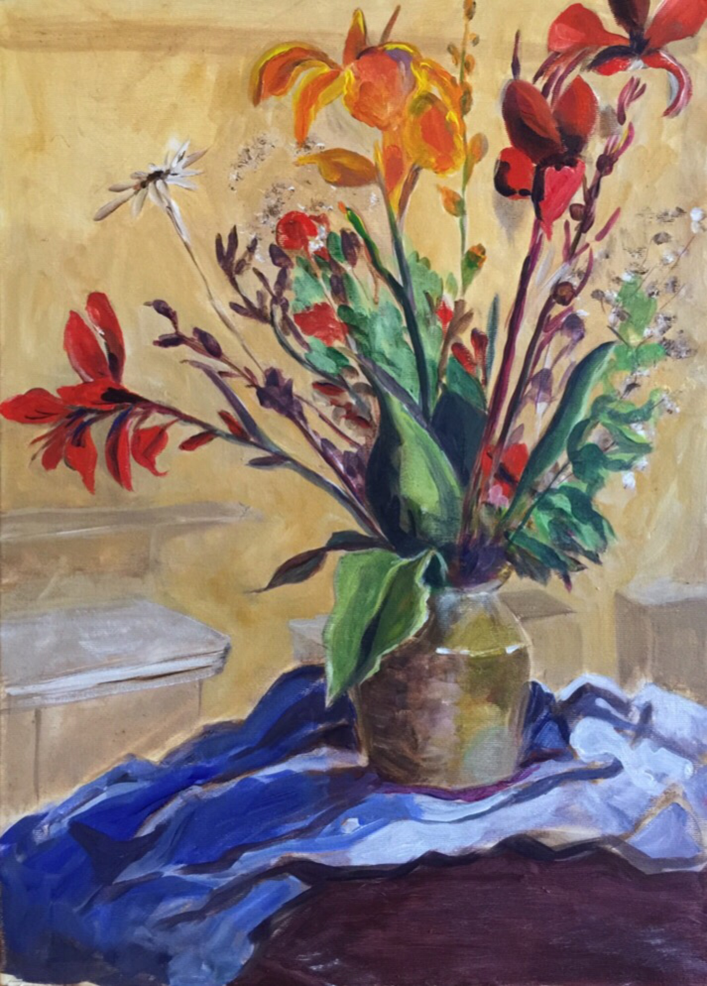 Uncategorized | Jane Crathern's Oca Practice Of Painting Log Intended For Most Recently Released Blended Fabric Spring Bouquet By Renoir Tapestries (View 9 of 20)