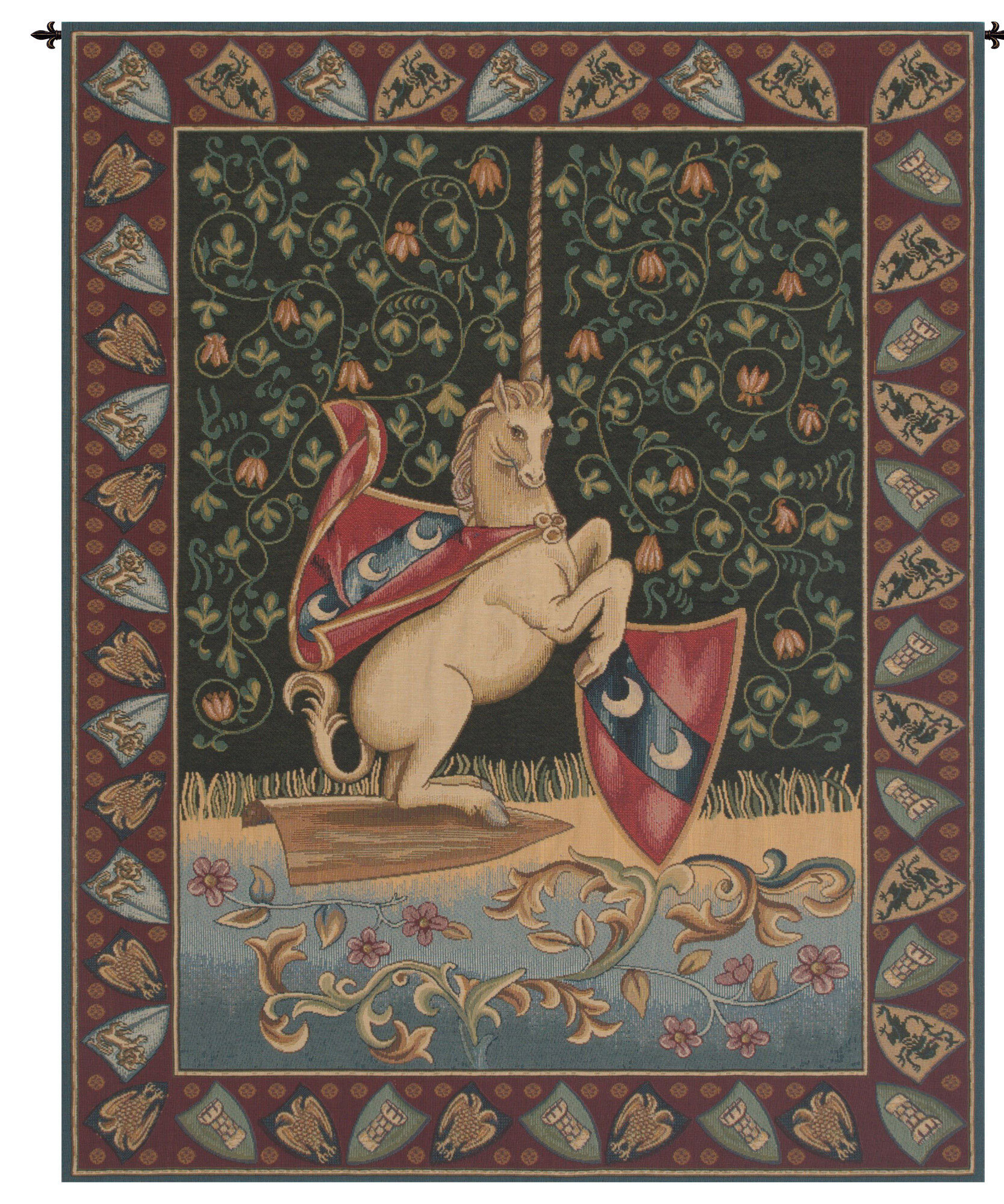 Unicorn Medieval Wall Hanging In Most Current Blended Fabric Bellagio Scalinata Wall Hangings (View 14 of 20)