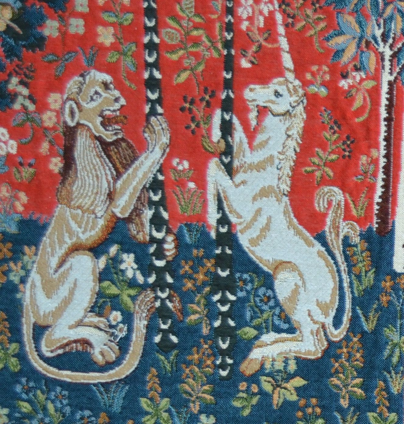 Unicorn Series Lion And Unicorn Tapestry Cushion Cover ~ H14 Regarding Most Recent Lion I European Tapestries (View 6 of 20)
