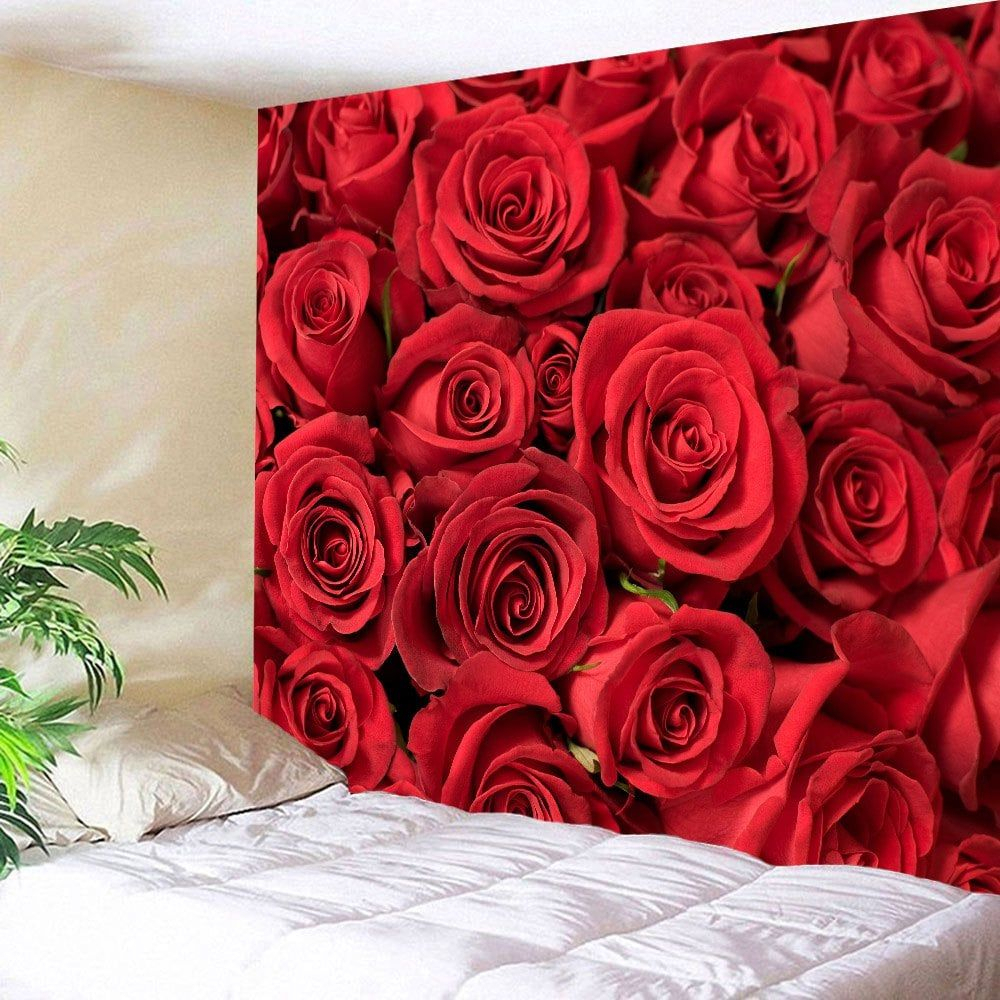 Valentines Day Roses Print Wall Tapestry | Flower Tapestry In 2018 Roses I Tapestries (View 14 of 20)