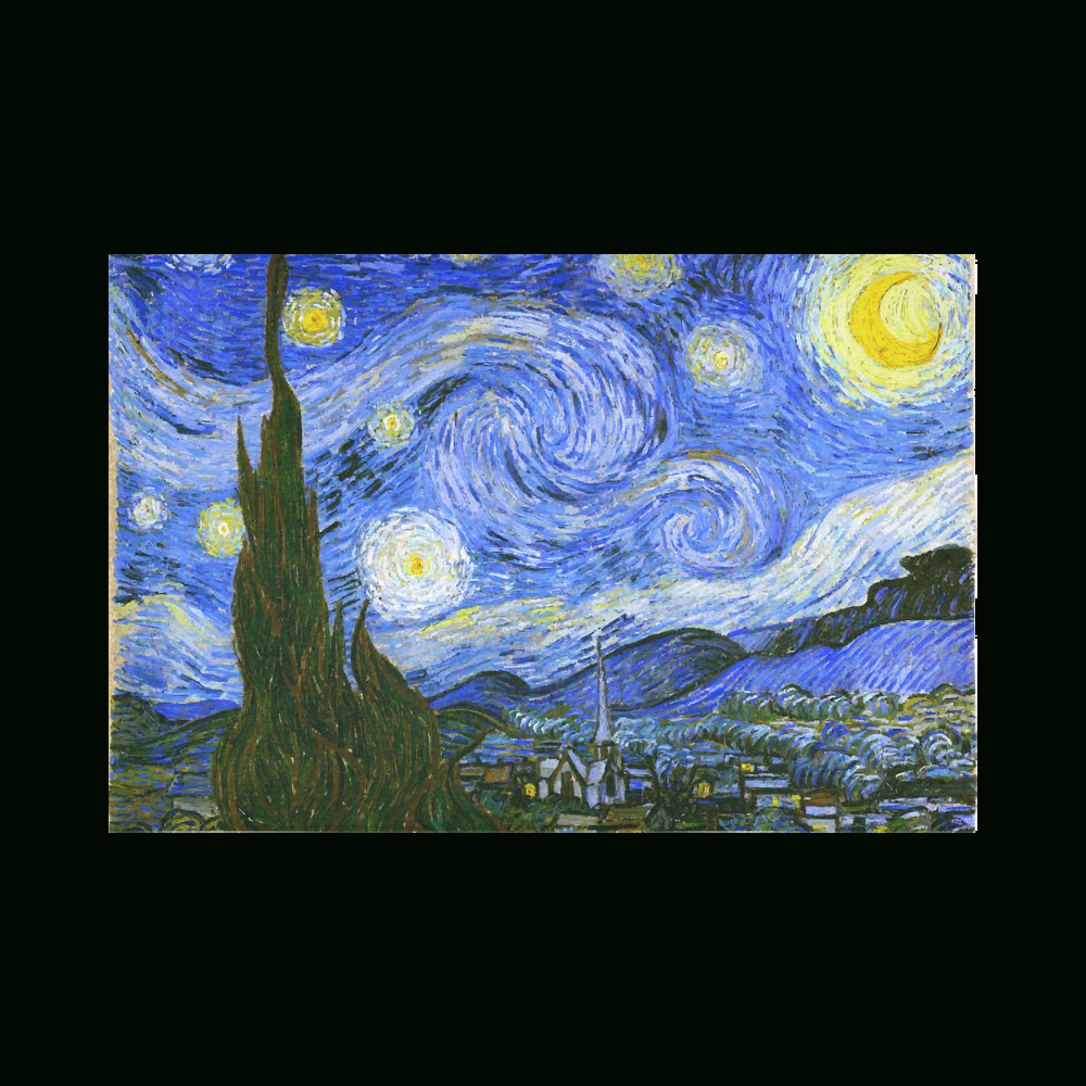 """Van Gogh Starry Night Cotton Linen Wall Tapestry 90""""x 60 With Most Popular Blended Fabric Van Gogh Starry Night Over The Rhone Wall Hangings (View 7 of 20)"""