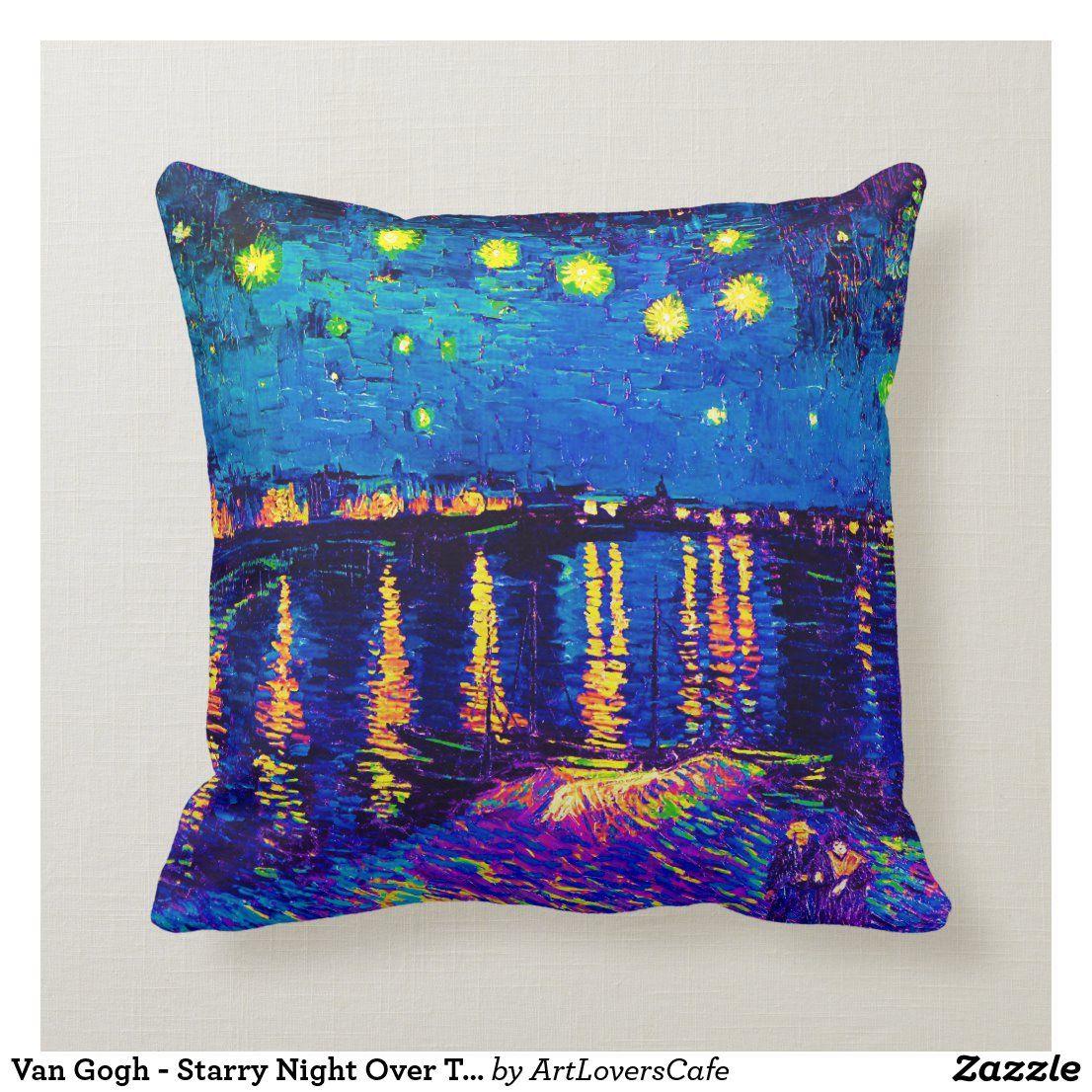 Van Gogh – Starry Night Over The Rhone Pop Art Throw Pillow For Recent Blended Fabric Van Gogh Starry Night Over The Rhone Wall Hangings (View 9 of 20)