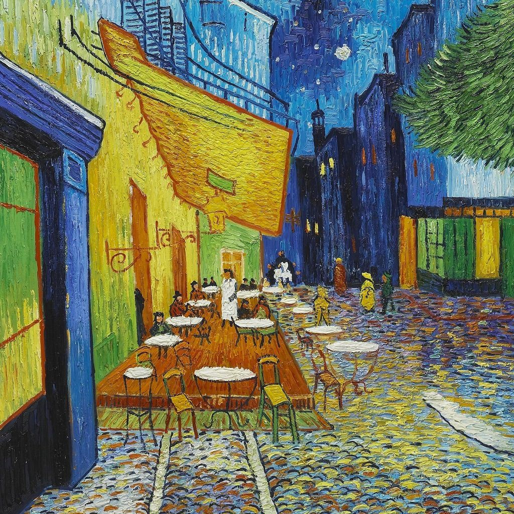 Van Gogh Summer Night And French Cafe | Van Gogh Paintings Throughout Recent Blended Fabric Van Gogh Terrace Wall Hangings (View 6 of 20)