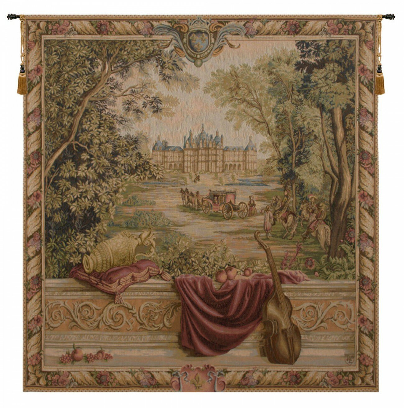 Verdure Au Chateau I European Tapestry Inside 2018 Blended Fabric Verdure Au Chateau Ii European Tapestries (View 2 of 20)