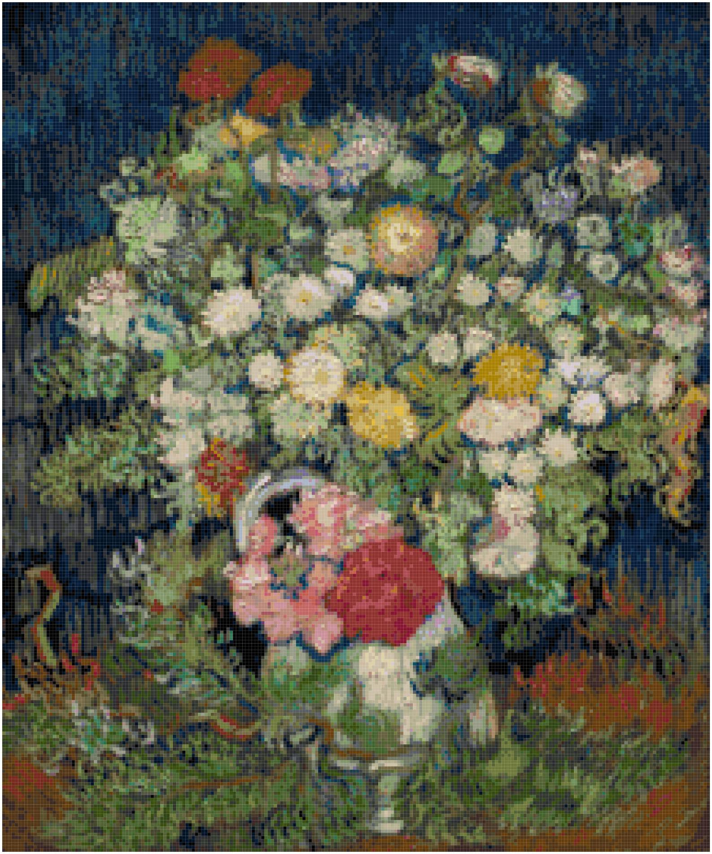 Vincent Van Gogh Bouquet Of Flowers In A Vase Counted Cross Intended For Newest Blended Fabric The Mulberry Tree – Van Gogh Wall Hangings (View 12 of 20)