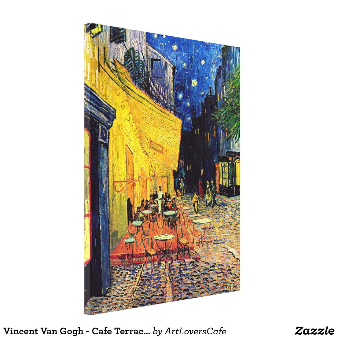 Vincent Van Gogh – Cafe Terrace At Night Fine Art Canvas Throughout Most Recently Released Blended Fabric Van Gogh Terrace Wall Hangings (View 3 of 20)