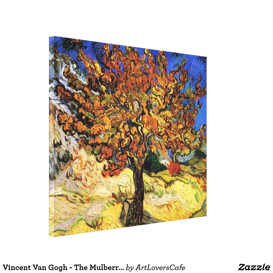 Vincent Van Gogh – The Mulberry Tree Fine Art Canvas Print Throughout Recent Blended Fabric The Mulberry Tree – Van Gogh Wall Hangings (View 2 of 20)