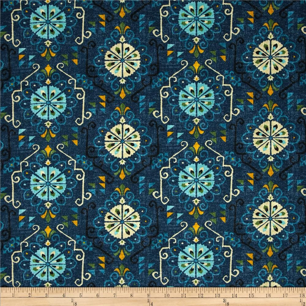 Waverly Summer Rain Cove From @fabricdotcom Screen Printed Throughout Most Recently Released Blended Fabric The Pomona Wall Hangings (View 11 of 20)
