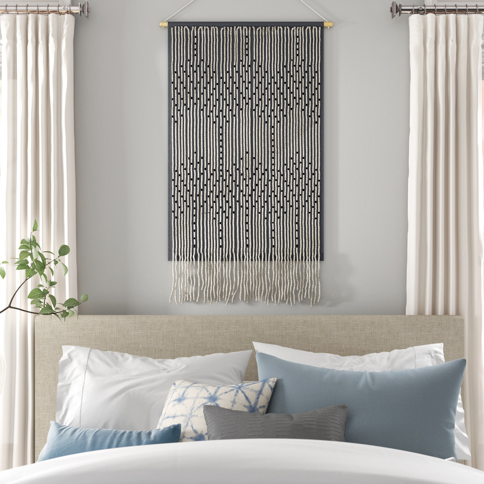 "Wayfair | Large 33"" 40"" Tapestries You'll Love In 2021 Regarding 2018 Blended Fabric Hohl Wall Hangings With Rod (View 2 of 20)"