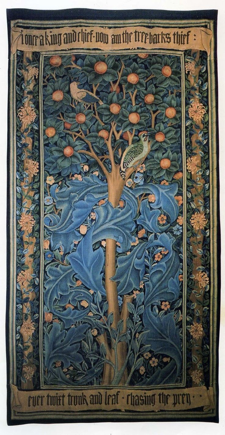 William Morris Woodpecker Tapestry (View 5 of 20)