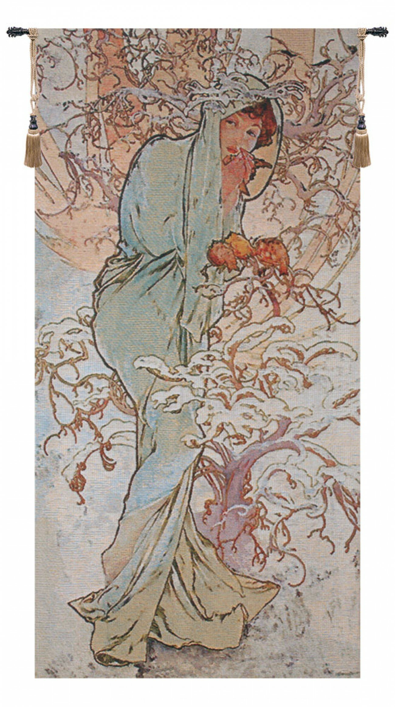 Wintermucha Tapestry Throughout Newest Blended Fabric Mucha Autumn European Wall Hangings (View 2 of 20)