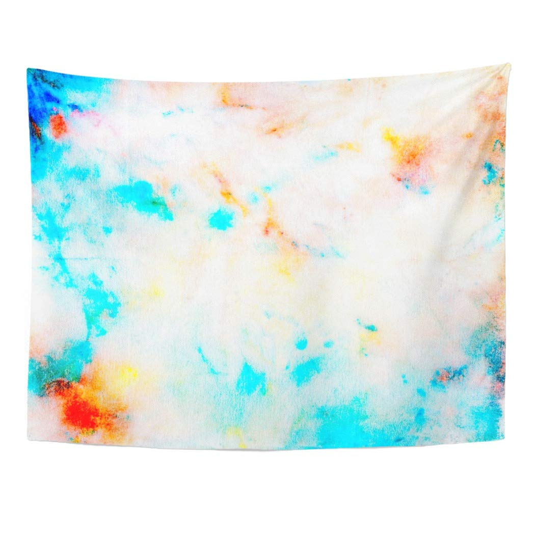 Zealgned Colorful Artsy Watercolor For And Abstract Artistic Artistry Blend Blot Wall Art Hanging Tapestry Home Decor For Living Room Bedroom Dorm With Newest Blended Fabric Wall Hangings With Hanging Accessories Included (View 17 of 20)