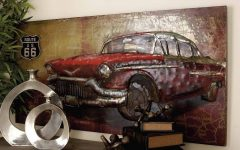 Car Metal Wall Art