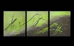 Lime Green Abstract Wall Art