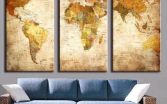 Framed Map Wall Art