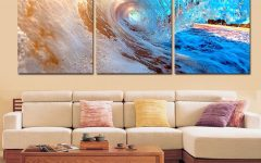 Abstract Ocean Wall Art