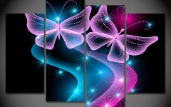 Abstract Neon Wall Art