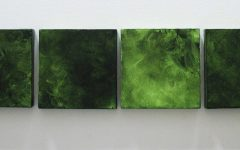 Green Abstract Wall Art