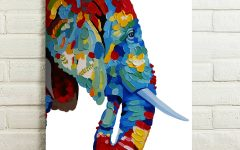 Abstract Elephant Wall Art