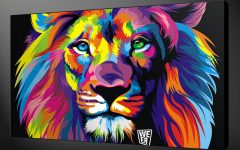 Abstract Lion Wall Art