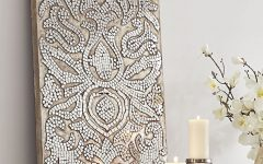 Damask Fabric Wall Art