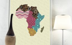 Africa Map Wall Art