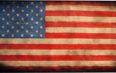 American Flag Fabric Wall Art