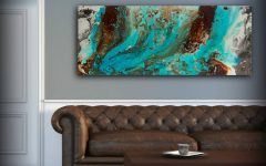 Turquoise and Brown Wall Art