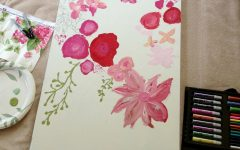Floral Fabric Wall Art