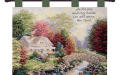 Blended Fabric Autumn Tranquility Verse Wall Hangings