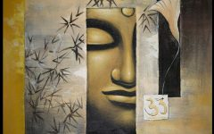 Abstract Buddha Wall Art