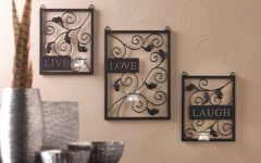 Live Love Laugh Metal Wall Decor